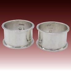 Vintage Taxco Silver Castillo Brothers Napkin Rings