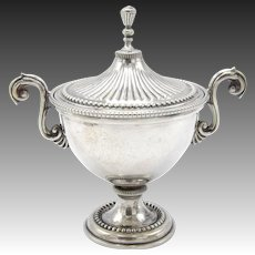 Italian Silver Cup Vessel with Lid