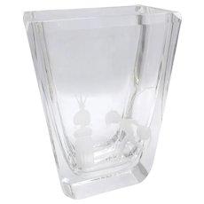 Mid-Century Kosta Boda Fairy-Tale Glass Vase