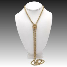 Victorian 14kt Gold Sliding Chain Necklace
