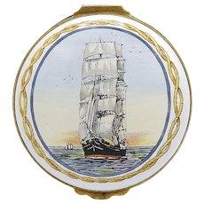 "Limited Edition Crummles & Co. ""Sir Lancelot"" Enamel and Brass Trinket Box"