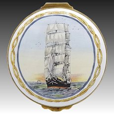"Limited Edition Crummles & Co. ""Sir Lancelot"" Enamel and Brass Trinket Box"