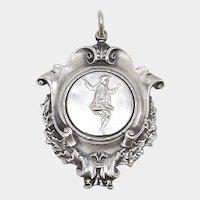 Sterling Silver Scottish Highland Games Dancing Medal Pendant