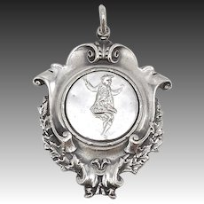 Sterling Silver Scottish Highland Games Dancing Medal Pendant