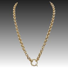 Victorian 14kt Gold Chain Necklace