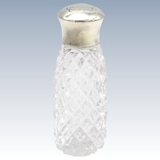 Early 20th Century Sterling Silver and Glass Perfume Bottle