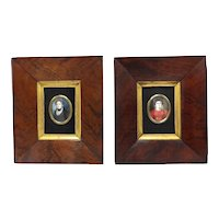 19th Century Pair of Miniature Portraits