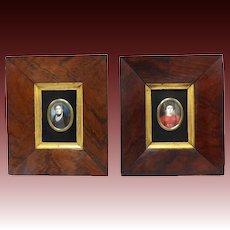 19th Century Pair of Miniature Portraits