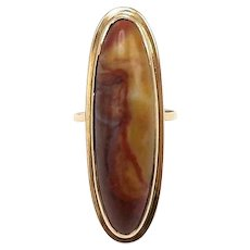 Victorian 18kt Gold and Agate Ring, 5.70 CTW
