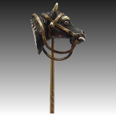 Victorian Era, Copper & Bronze Horse Head Stick Pin