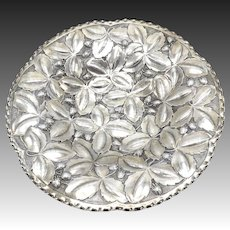 German 800 Silver Repousse Strawberry Bowl or Platter