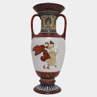 Neoclassical Vieux Paris Porcelain Vase with Greek Figures