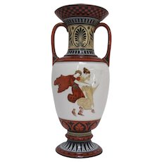 Neoclassical Vieux Paris Porcelain Vase with Greek Figures
