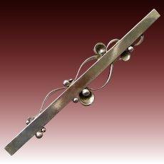 Georg Jensen Sterling Silver Bar Pin # 234A