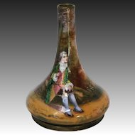 19th Century Hand-Painted French Copper Vase