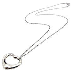 Tiffany & Co. Elsa Peretti Sterling Silver Heart Pendant Necklace