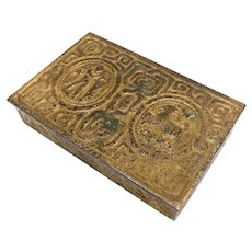 Tiffany Studios Bronze and Gold Dore Zodiac Desk Box