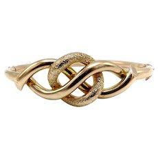 9K Gold Victorian Love Knot Bracelet