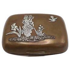 19th Century Gorham Mixed Metal Soap Box