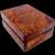Solid Amboyna Burl Wood Box, circa 1930s