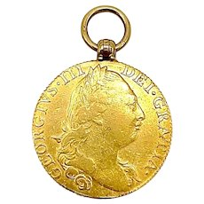 22K Gold Georgian Guinea Coin Locket or Pendant