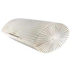 Austrian Art Deco Silver Case with Gilt Gold Wash Interior
