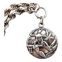 Margot De Taxco Zodiac Sterling Silver Gemeni Pendant Medallion
