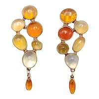 14K Gold Vintage Opal Earrings
