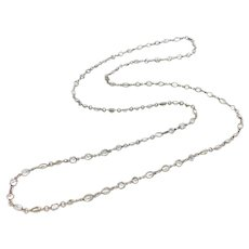 Sterling Silver Faceted Quartz Crystal Necklace