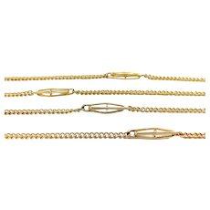Vintage 14K Gold Fancy Link Chain Necklace