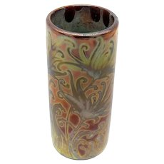 Weller-Sicard Ceramic Chrysanthemum Pattern Vase