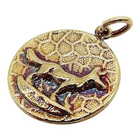 14K Gold Victorian Inspired Signature Fox Pendant-Charm