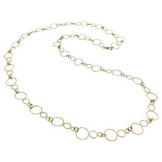 18K Gold Vintage Handmade Circular Link Chain