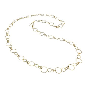 18K Gold Vintage Handmade Circular Link Chain