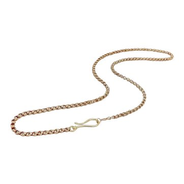 10K Gold Victorian Chain with Shepherd's Hook Clasp