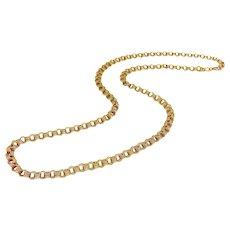 14K Russian Edwardian Flattened Link Chain Necklace