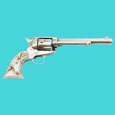 William de Matteo Sterling Silver Miniature Colt Peacemaker Revolver Replica