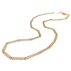 14K Rose Gold Vintage Curb-Link Variation Necklace