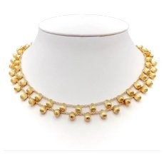 Marco Bicego 18K Gold Double Strand Acapulco Necklace