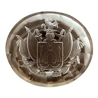 Smokey Quartz Family Crest Intaglio Wax Seal