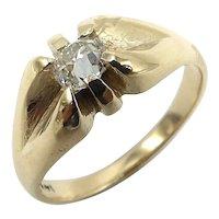 14K Victorian Old Mine Cut Diamond Ring