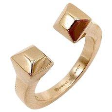 18K Rose Gold Gucci Chiodo Nail Ring