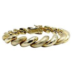 Vintage 14K Gold San Marco Chain Bracelet