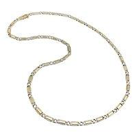 18K Gold Vintage Curb-Link Chain Variation Necklace