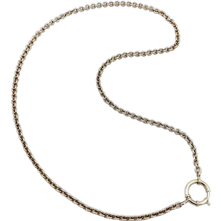 14K Gold Victorian Belcher Link Chain with a Spring Ring