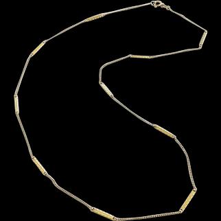 Vintage 18K Gold Italian Bar Link Chain
