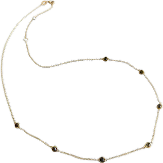 14K Gold Sapphire by the Yard Necklace