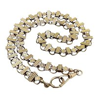Victorian Gold Fill Book Chain with Spring Ring Clasp