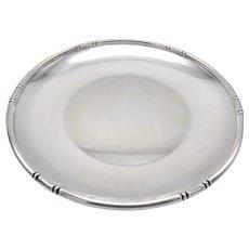 Mid-Century Modern Sterling Silver Platter in Bamboo Pattern