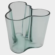 Aalto 1940's Winter Green Savoy Glass Vase